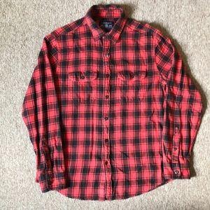 American Eagle athletic fit plaid flannel shirt